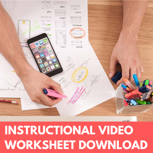 Instructional video worksheet download